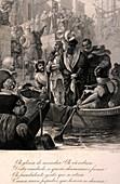 Vasco da Gama departs Lisbon,1497