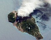 Soufriere Hills eruption,ISS image