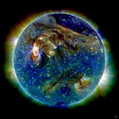 Solar flare,1 August 2010,SDO image