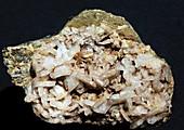 Albite crystals