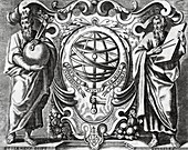 Ptolemy and Euclid,17th century artwork