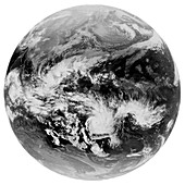 Tropical cyclone Yasi,satellite image