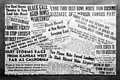 Dust storm headline montage