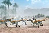 Velociraptor dinosaurs