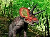 Triceratops dinosaur,artwork