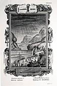 1731 Johann Scheuchzer Noah's Ark Flood