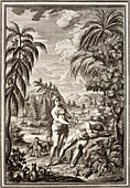 1731 Scheuchzer Creation Adam & Eve