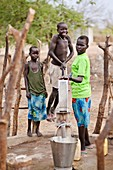 Water collection,Sudan