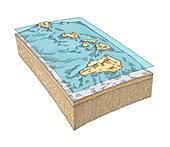 Hawaiian Islands topography