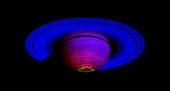 Saturn's aurorae,infrared Cassini image