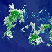 Komodo National Park,satellite image
