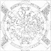 Dendera zodiac,1882 artwork