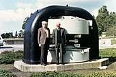 Amaldi and Segre,Italian physicists