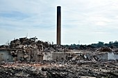 Chemical factory demolition