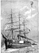 Naval observation balloon,19th century