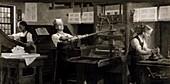 Benjamin Franklin as a printer,1720s