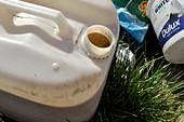 Dumped liquid waste