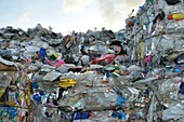 PLastic waste at recycling centre