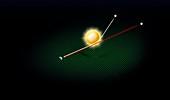 Gravitational lens,diagram