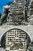 Medieval rock-cut pigeon house,France