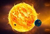 Inner solar system,artwork