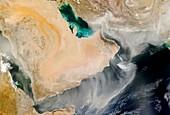 Dust storm over the Arabian Peninsula
