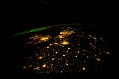 UK and Europe at night from space