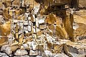 Erosion of marlstone