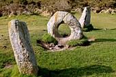 Men-an-tol standing stones,Cornwall,UK