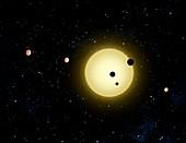 Kepler-11 planetary system,artwork