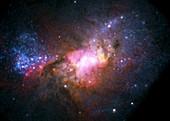 Henize 2-10 starburst galaxy,composite