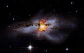 NGC 6240 colliding galaxies,composite
