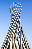 Metal sculpture at Fermilab
