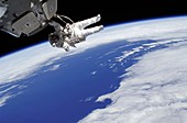 ISS space walk,2010