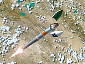 Galileo GIOVE-A satellite launch