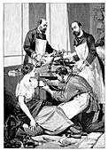 Tuberculosis transfusion,19th century