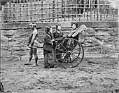 Japanese rickshaw,19th century