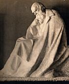 Charles Darwin,museum statue