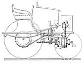 Daimler automobile,19th century