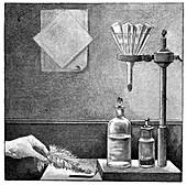 Nitrogen triiodide,19th century