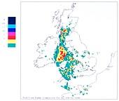 Weather radar display sequence
