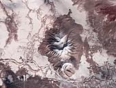 Kamchatka Peninsula,satellite image