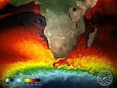 Sea surface temperature simulation