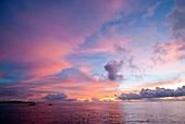 Sunrise in the Maldives