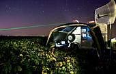 LIDAR laser atmospheric research