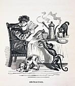 1836 Caricature of abesent minded prof
