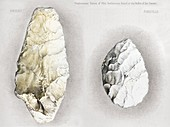 1860 Perthes handaxes,Abbeville,Amiens