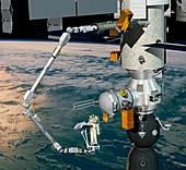 ERA robotic arm of the ISS,artwork