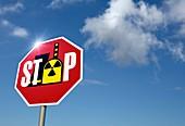 Stop nuclear power,conceptual artwork