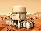 ESA base on Mars,artwork